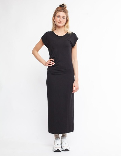 [WMDR018P010SS20000] Felicia Thight Long Dress in Tencel